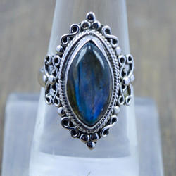 Labradorite Gemstone New Fashion Jewelry 925 Sterling Silver Ring Wr-5257