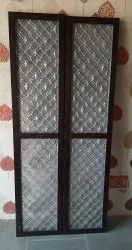 Metal Finished Aluminum Jaali Door, For Home, Thickness: 2x1
