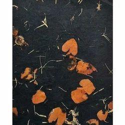 Floral Petal Handmade Paper Sheet, GSM: 80-120
