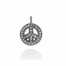 Diamond Peace Charm