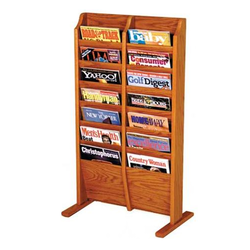 Wooden Magazine Stand