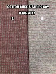 Cotton Chex and Stripes Print Fabric, GSM: 100-150