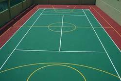 200 Sq Ft Multicolor Sports Flooring Service, Thickness: 4-6 Mm