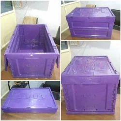 Prasham Plast Rectangular Foldable PP Crates, Capacity: 35 Kg