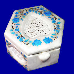 Fashionable Inlay Marble Box
