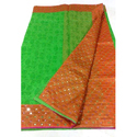 Green , Blue Party Wear, Festive Wear Banarasi Saree