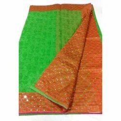 Green , Blue Party Wear, Festive Wear Banarasi Saree