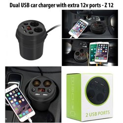 White Non Brand USB CAR CHARGER