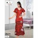 Long Rishika Cotton Printed Nightgown