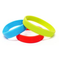 Plain Silicone Silicon Wrist Band, Packaging Type: Box, Size: 12mm