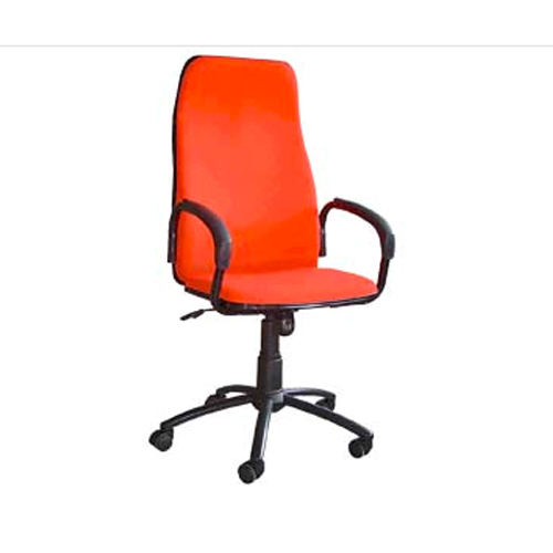 Orange Fabric Premier Office Chair Back Rest Adjule Yes