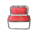 Stainless Steel Red Chair