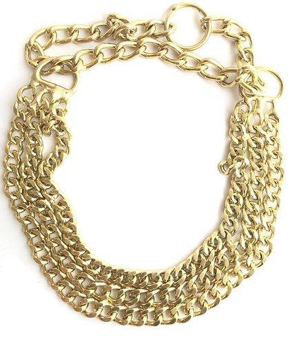 Dog Multi Layer Gold Choker Chain Large