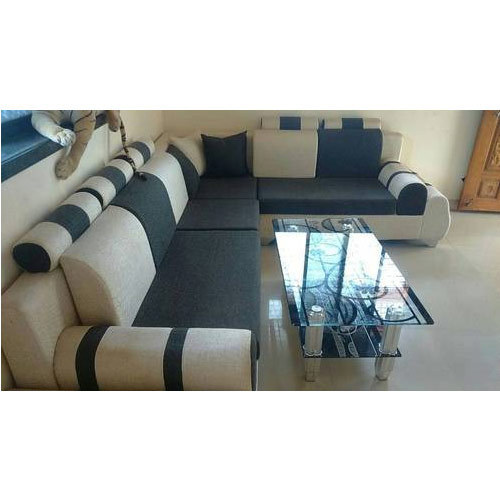Suede Designer Corner Sofa Set, Rs 24000 /set, Vandan\'s Living ...