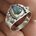 925 Silver Orange Carnelian Ring
