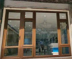 Fenesta Wallnut UPVC Casement Window, Glass Thickness: 8 mm