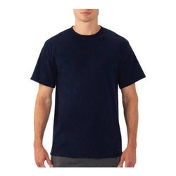 Cotton Casual Wear Mens Round Neck T Shirts, Size: S - XXXL