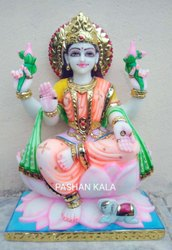 Artistic Marble Lakshmi Maa Statue