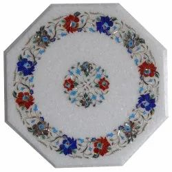 White Marble Coffee Table Top Mosaic Arts Decorative