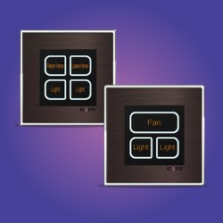 Icosys Smart Switch - 3 & 4 Gang for Domestic and Commercial, Voltage: 220v Ac