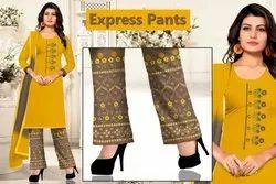 Vaibhav Laxmi Cotton Ladies Suits with Pant, Machine wash