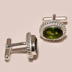 Gemstone Sterling Silver Cufflinks
