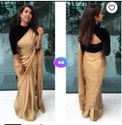 Satin Silk Saree With Banarasi Silk Blouse