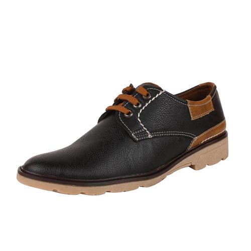 7517243e504fb Great Indian Products Synthetic Leather Lace Up Lace Up Shoe (black & Brown)