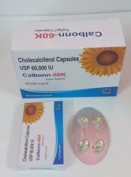 Cholecalciferol 60000IU or Vitamin D3 Softgel Capsules