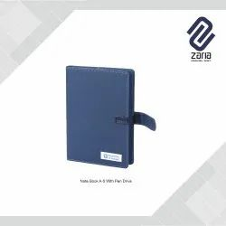 Promotional Note Book With Pen Drive