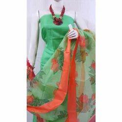 Printed Party Wear Kota Silk Dress Material