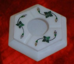 Marble Smoking Ashtray Inlay Art
