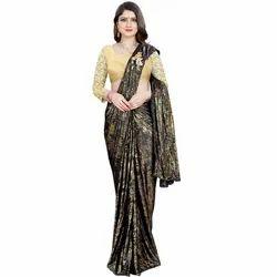 Ladies Wedding Wear Lycra Saree