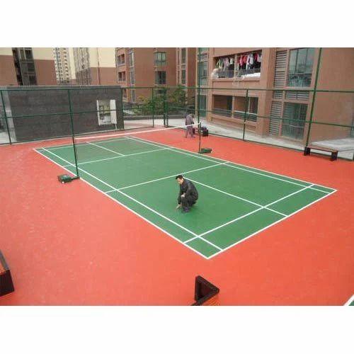 Unique Outdoor Badminton Court Flooring Rs 304 Square