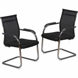 Black Polyester Mesh Back Visitor Chair