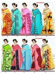 Satyamurti Printed Georgette Saree