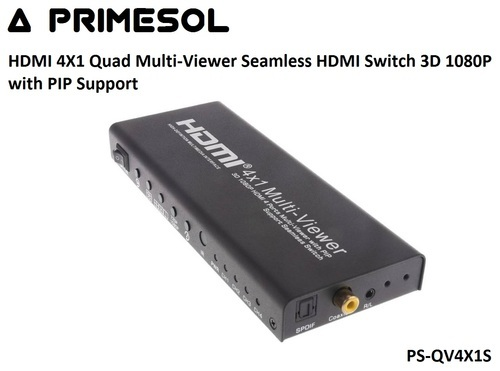 Hdmi 4x1 Quad Multi Viewer Seamless Hdmi Switch 3d 1080p With Pip Support  Ps Qv4x1s