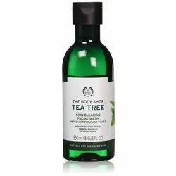 Herbal The Body Shop Tea Tree Skin Clearing Facial Wash, Packaging Type: Bottle