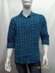 Collar Neck Casual Wear Mens Cotton Readymade Shirt