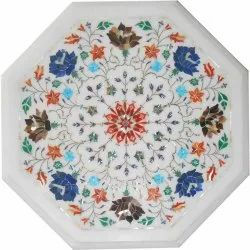 White Marble Inlay Work Pietra Dura