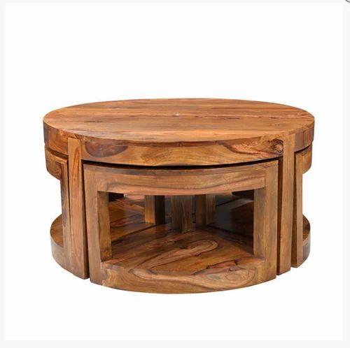 Rio Wooden Round Coffee Set Of 5