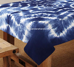 Shibori Tie Dye Cotton Table Cover