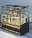 Stainless Steel Bakery Display Cabinets, For Restaurant