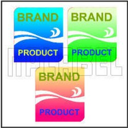 Customized Polyurethane Coating Label, Packaging Type: Packet