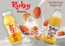 Flavour: Badam Flavored Milk, 200 ml, Packaging Type: Bottle