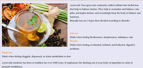 Ayurveda Tea Therapy Treatment, Ayurvedic Treatment