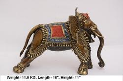 Brass Running Elephant, Weight: 11 kg