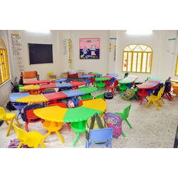 Colored Play School Table Chair Set