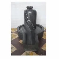 Black Shiva Lingam With Jaladari