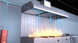 PIRANHA Dual Agent Restaurant Fire Suppression System
